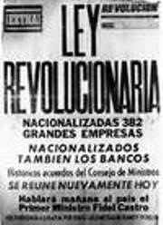 Nacionalización de la banca en Cuba