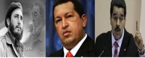 Resultado de imagen para Fidel castro, Hugo Chavez y Nicolas maduro