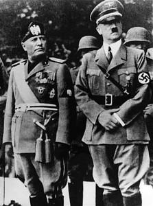 Benito Mussolini y Adolf Hitler. (Wikimedia)