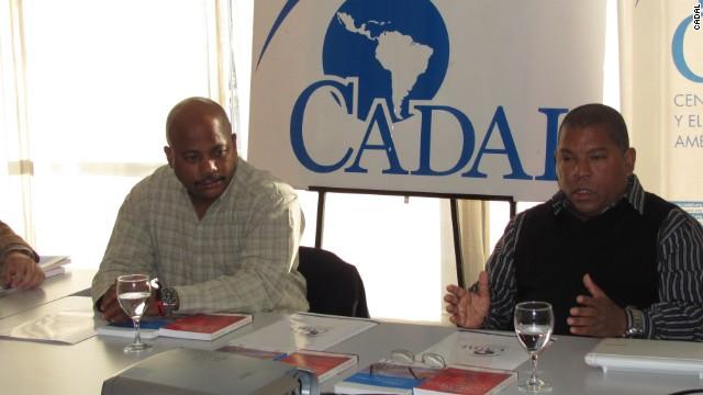 Fernando Palacio Mogar (izq) y Leonardo Calvo Cárdenas en Buenos Aires.
