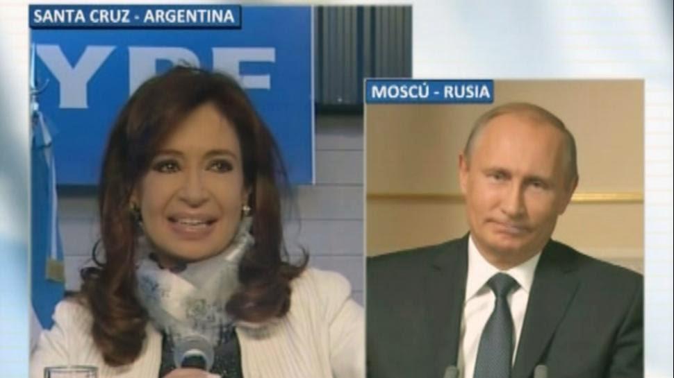 Cristina dialogó con Putin por videoconferencia al lanzar la incorporación del canal Rusia Today a la TV argentina
