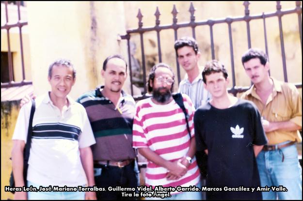 Heras León, José Mariano Torralbas, Guillermo Vidal, Alberto Garrido, Marcos González y Amir Valle. Tira la foto Ángel.