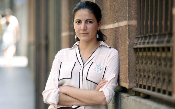 La opositora cubana Rosa María Payá, ayer en Madrid. / SANTIAGO BURGOS