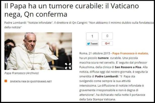 Editorial publicado por Andrea Cangini, director del grupo QN (Captura de pantalla en 'Il Giorno')
