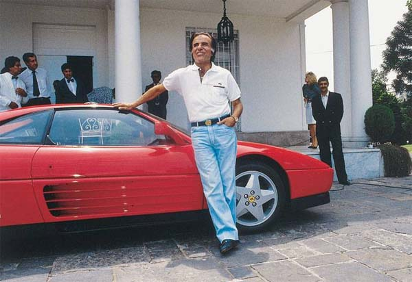 Menem y el Ferrari