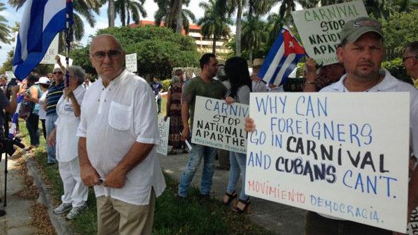 Exilio cubano protesta 2