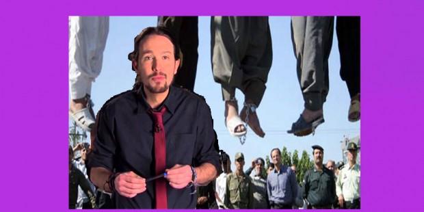 Pablo Iglesias ahorcamientos en Irán