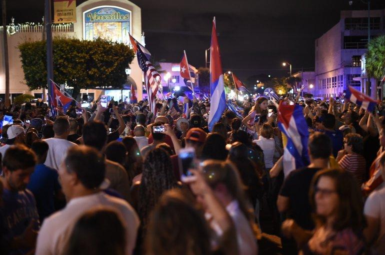 Miami reacciona ante fallecimiento del dictador cubano