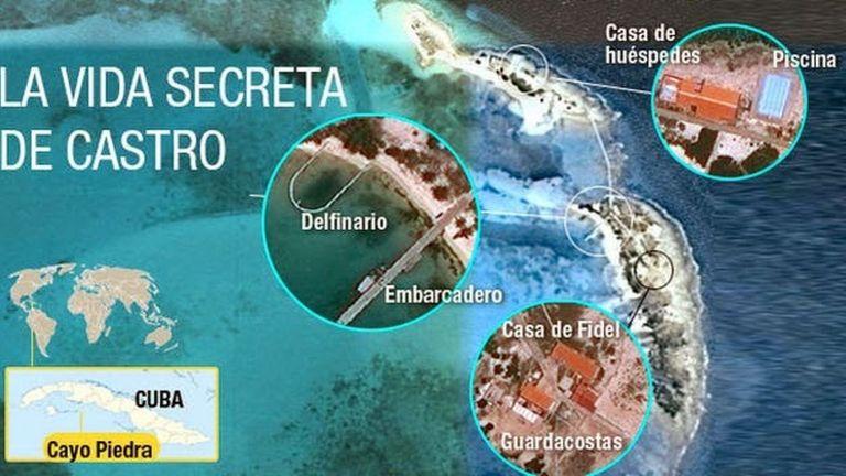 Imagen aérea del complejo paradisíaco de Fidel Castro