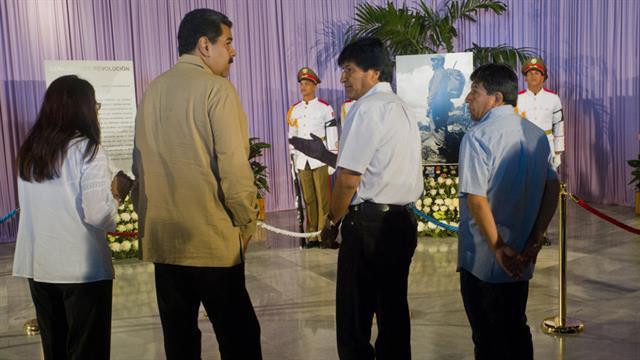 Los presidentes Nicolás Maduro y Evo Morales viajaron ayer a Cuba