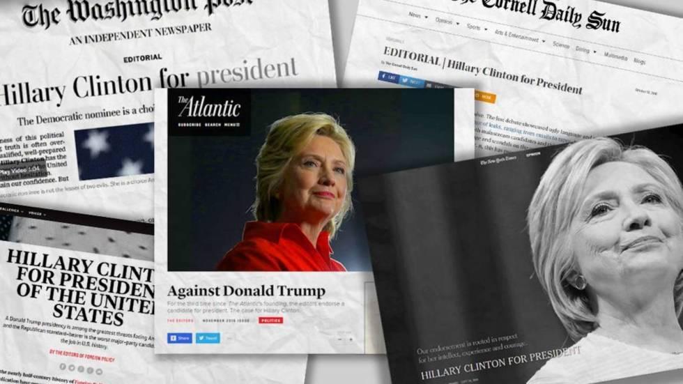 por-que-toda-la-prensa-de-eeuu-ha-apoyado-a-hillary-clinton-en-sus-editoriales