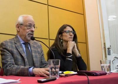 Gómez Alcorta junto a Verbitsky, presidente del Centro de Estudios Legales y Sociales (Archivo)