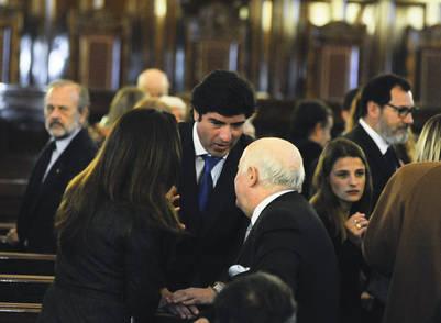 Alejandro Slokar, de la  Cámara de Casación (centro) en el acto de Jura de Carlos Rosenkrantz como miemto de la Corte. (PEDRO LAZARO FERNANDEZ)