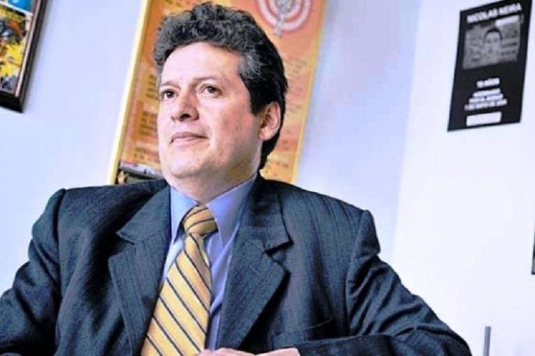 Alirio Uribe Muñoz, antiguo terrorista del M19 y actual congresista del Polo Democrático, fue presidente del Colectivo Alvear Restrepo