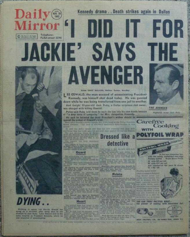 La famosa frase 'Lo hice por Jackie' de Ruby, en titular