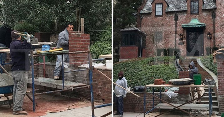 Photo published for President Obama Builds a Wall for Rental House (PHOTO GALLERY)