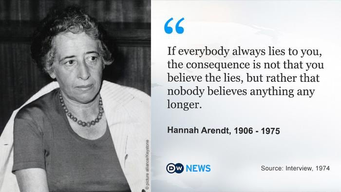 DW News Hannah Arendt Zitate ENG