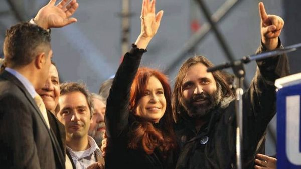 Cristina Kirchner junto a Roberto Baradel