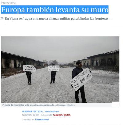 Europa también levanta su muro