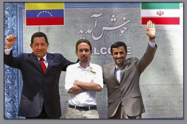 Podemos Irán y Chávez