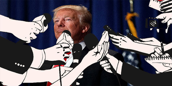 Trump y los periodistas
