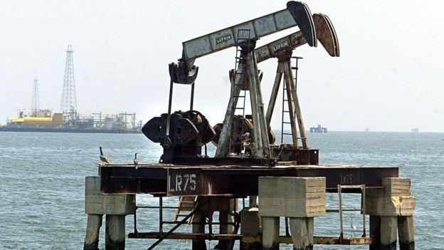 Plataforma petrolera en Venezuela