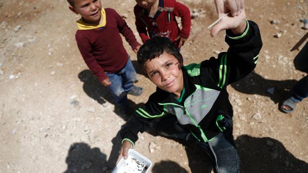 Refugiados sirios en el campamento jordano de Zaatari