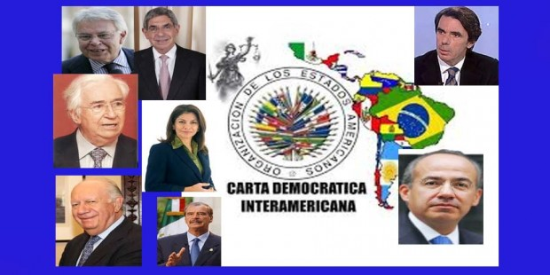 Ex presidentes y Carta OEA