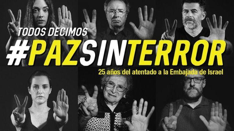 A 25 años del atentado a la embajada de Israel, lanzan la campaña #PazSinTerror