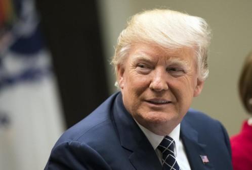 El presidente de los Estados Unidos, Donald Trump, asiste a un acto hoy en la Casa Blanca, en Washington (Estados Unidos).