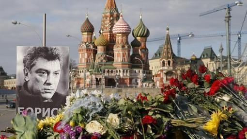 En recuerdo del asesinato de Nemtsov a pocos metros del Kremlin