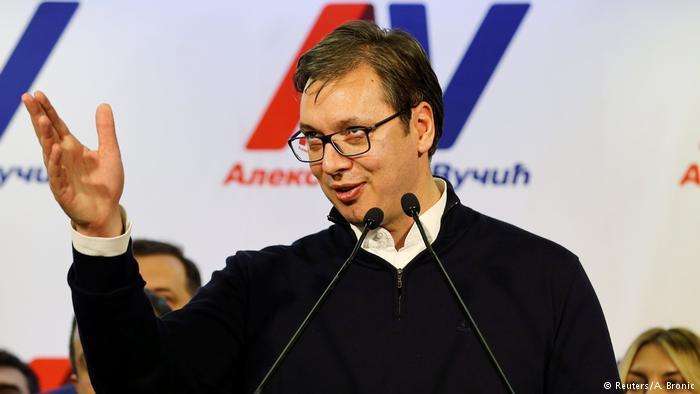 Aleksandar Vučić, ganador de las elecciones presidenciales en Serbia