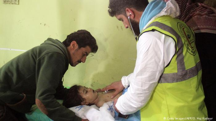 Ataque de gas en Siria.