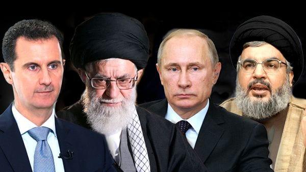 Bashar Al-Assad, Ali Khamenei, Vladimir Putin y Hasan Nasrallah, los grandes protagonistas en Siria