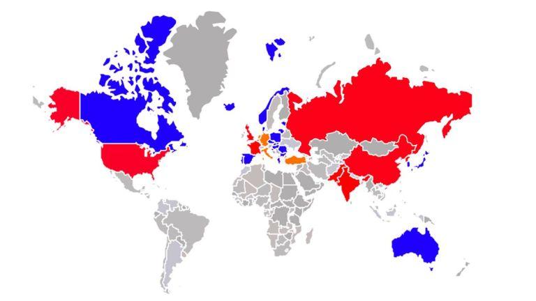 Resultado de imagen para Mapa nuclear: dónde están los arsenales que pueden destruir el mundo