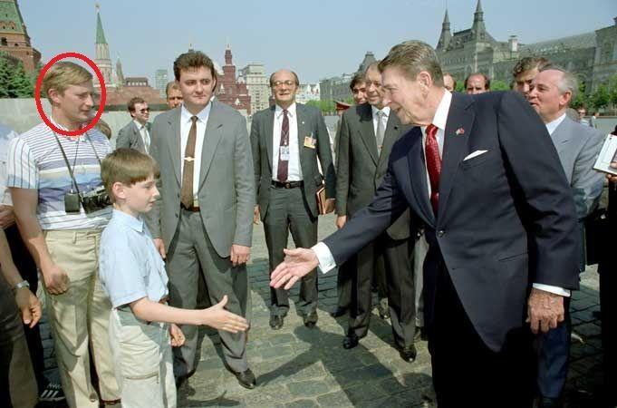 Putin y Ronald Reagan