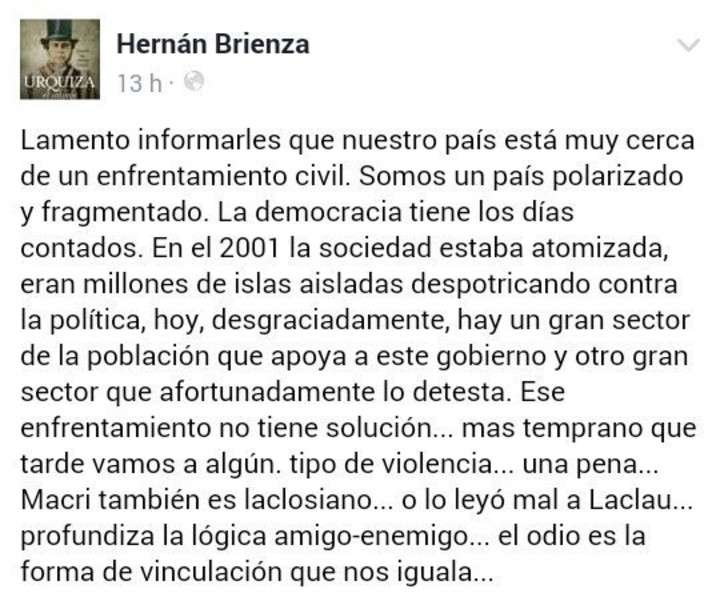 """Polémica en el kirchnerismo por la descripción de un """"enfrentamiento civil"""""""