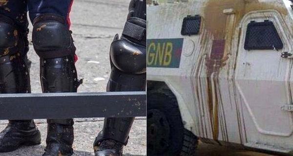"""""""BOMBAS PUPUTOV"""": Cócteles de excrementos, la nueva arma de la oposición contra la represión"""