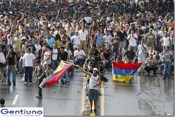 Abril protestas de jóvenes venezolanos