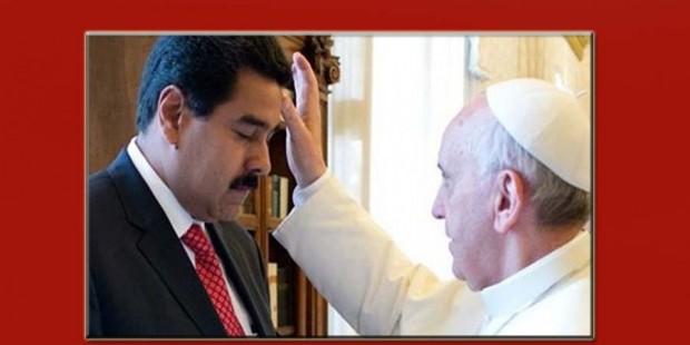 Bergoglio bendice a Maduro