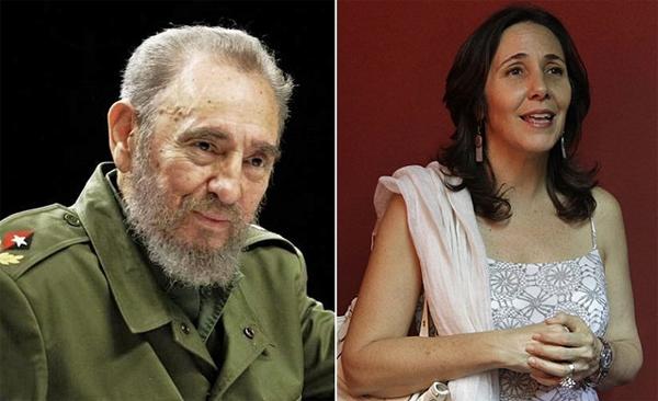 Mariela Castro y el tío Fidel Castro