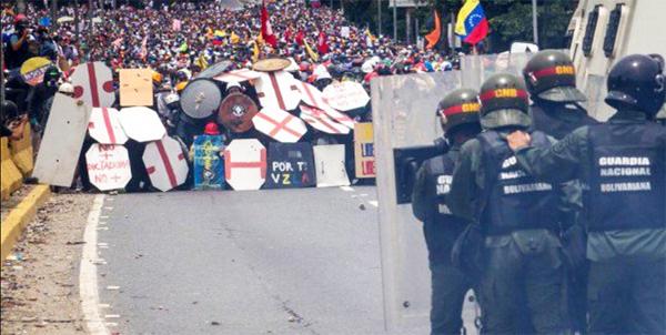 Venezuela valientes contra cobardes militares