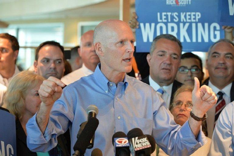 El gobernador Scott prometió este miercoles