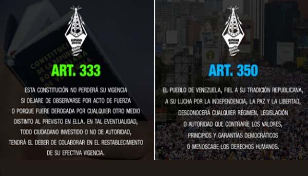 Artículos 333 y 350