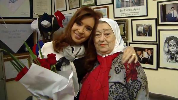 Cristina Kirchner junto a Hebe de Bonafini