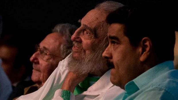 Fidel Castro, junto a Nicolás Maduro
