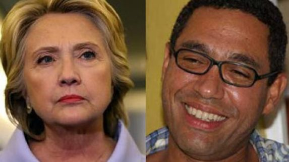 Hillary Clinton y Klaus Eberwein