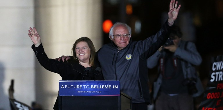 Jane Sanders' brand of socialism only ruined a small Vermont college; Bernie wants to ruin the world's largest economy (
