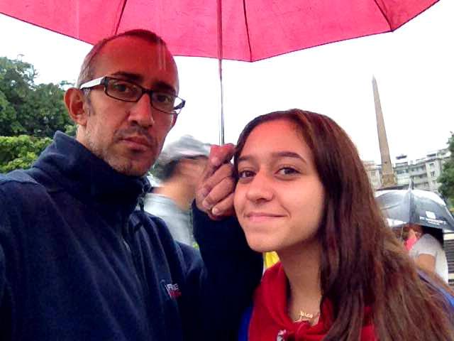 Andrés Colmenárez y Paula Colmenárez el día que nos ofrecieron su testimonio. Fotografía cedida por Andrés Colmenárez