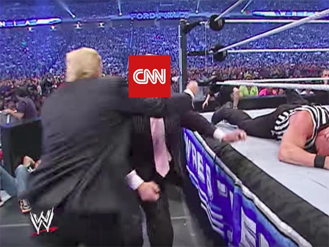 Trump pelea CNN